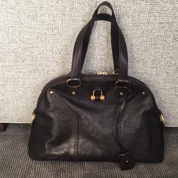 d4aaaef350 YSL CHOCOLATE BROWN DOME MUSE HANDBAG. M 5b871b1f7c979dd1099f9c74. Other  Bags you may like. 💯Auth Vintage Yves Saint Laurent Handbag